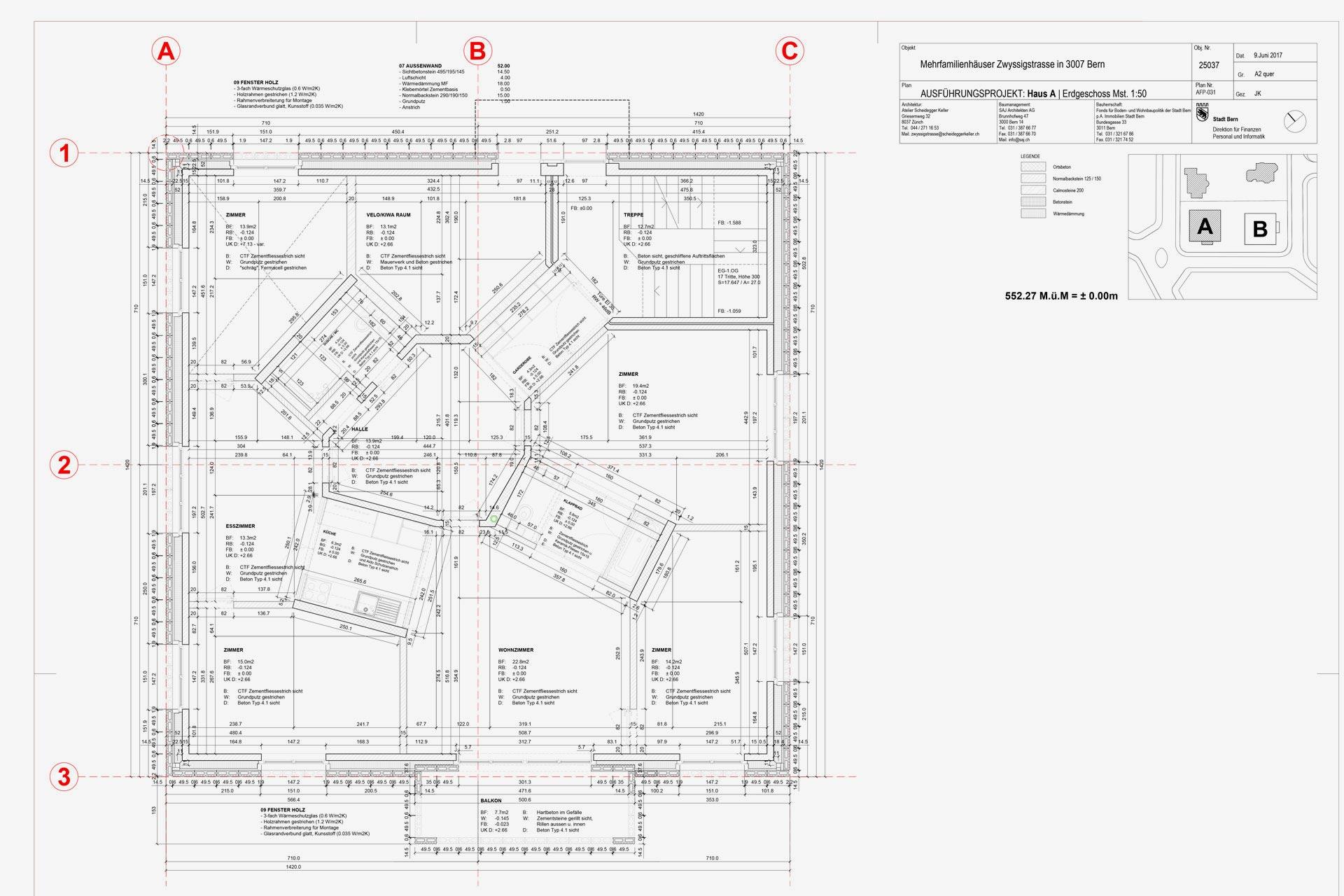 Referenzen, Kanton Bern, Mehrfamilienhäuser Zwyssigstrasse